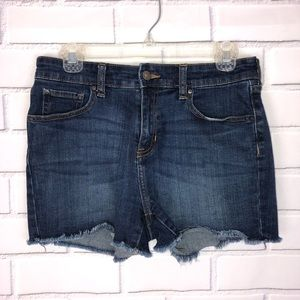 GAP Factory High Rise Cut Off Jean Shorts sz 4
